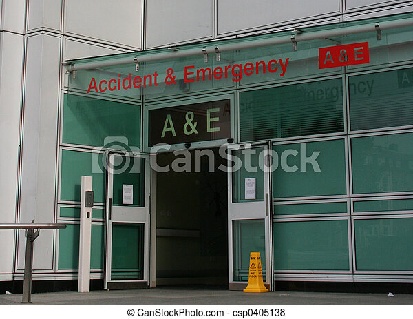 Accident and Emergency entrance - csp0405138