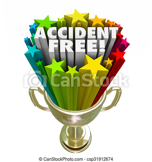 Accident free best safety record trophy prize award. Accident free ...