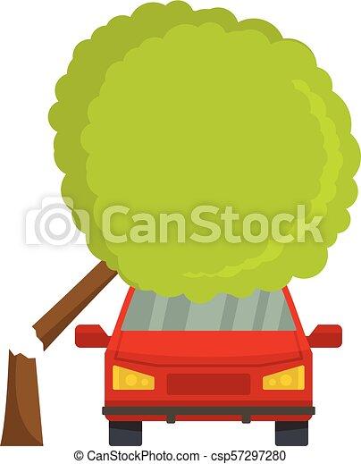 Accident icon, flat style - csp57297280