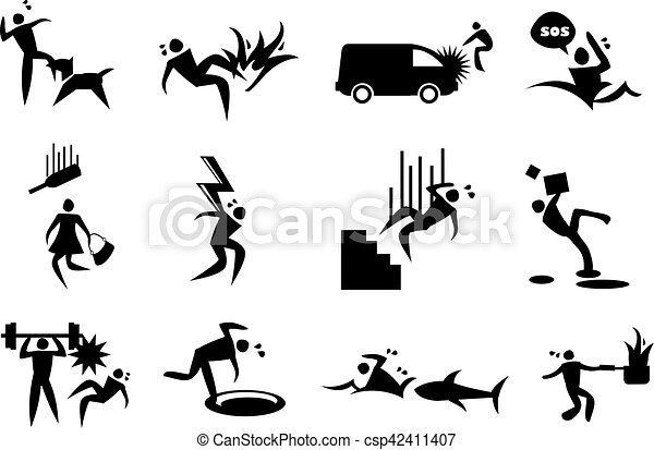 Accident, mishap and Disaster Vector Icons - csp42411407