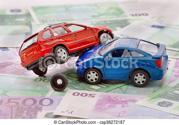 Accident two cars, insurance case - csp36272187