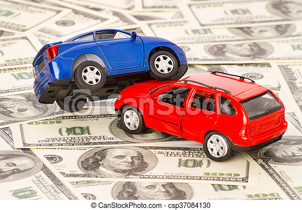 Accident two cars, insurance case - csp37084130