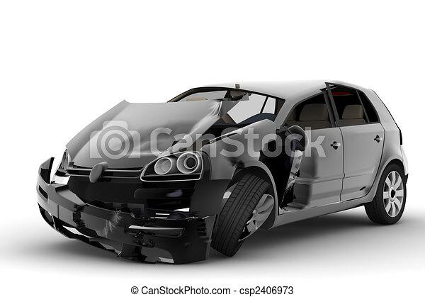 accident voiture - csp2406973