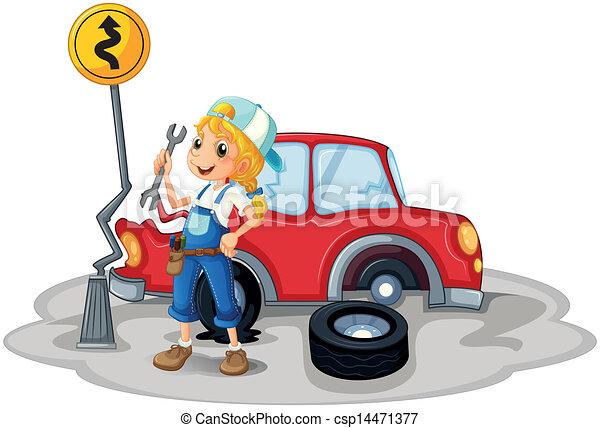 Accident voiture m canicien femme accident fond voiture illustration femme m canicien - Accident de voiture dessin ...