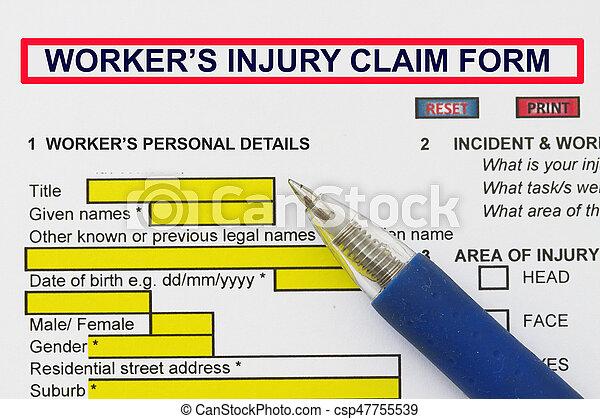 Accidental Injury Claim Form - csp47755539