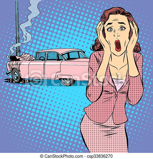Accidente de coche femenino - csp33836270