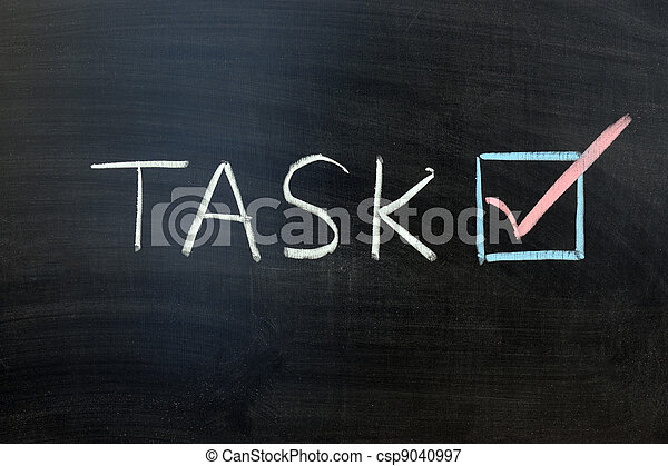 accompli, tâche - csp9040997