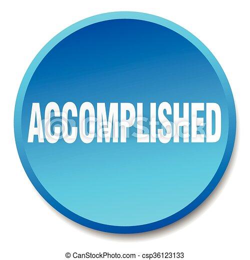 accomplished blue round flat isolated push button - csp36123133
