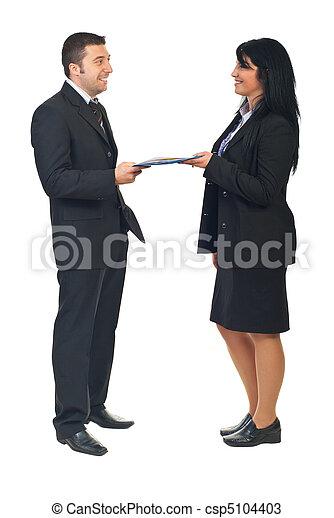 accord, entre, deux, professionnels - csp5104403
