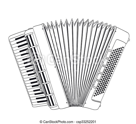 accordion drawing on white vector accordion clipart free accordion clip art png