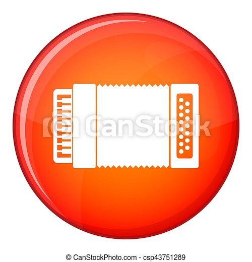 Accordion icon, flat style - csp43751289