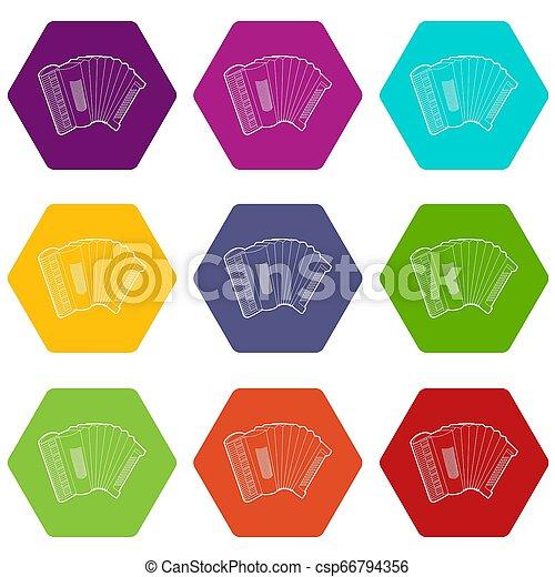 Accordion icons set 9 - csp66794356
