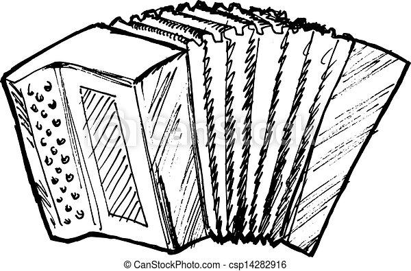 hand drawn sketch cartoon illustration of accordion vector clip rh canstockphoto ca piano accordion clipart accordion player clipart
