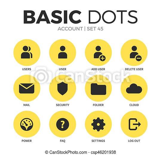 Account flat icons vector set - csp46201938