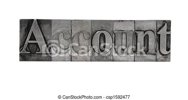 account in metal type - csp1592477