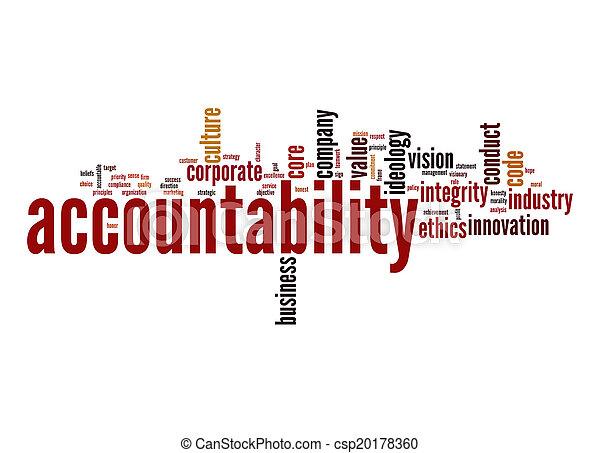 Accountability word cloud - csp20178360