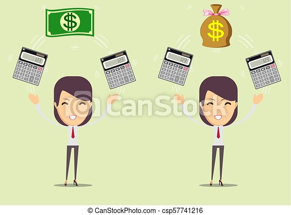 Accountant at work. Savings, finances and economy concept - csp57741216