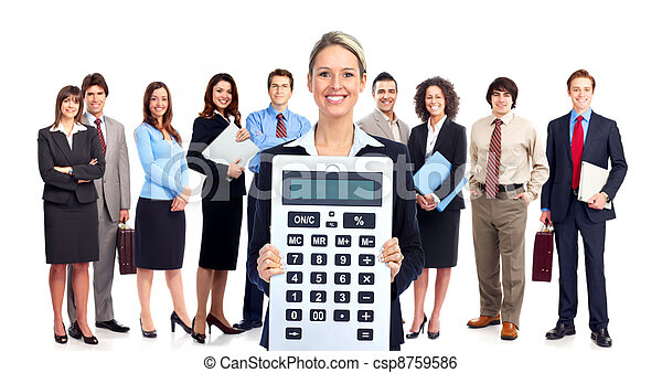 Accountant business woman. - csp8759586