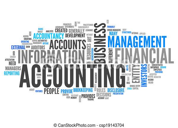 """accounting"", 낱말, 구름 - csp19143704"