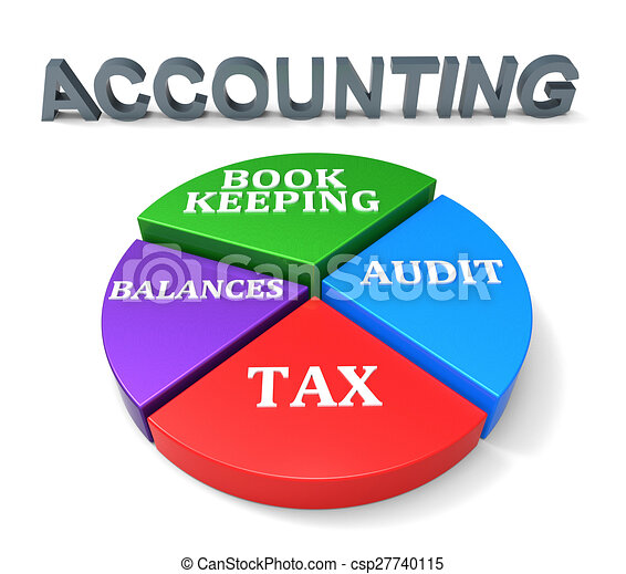 Accounting Chart Shows Balancing The Books And Accountant - csp27740115