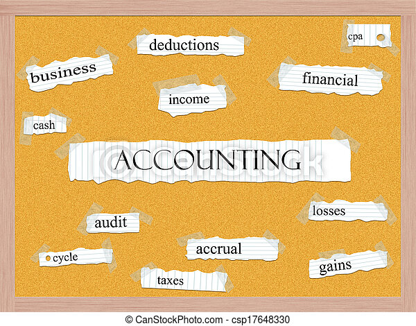 Accounting Corkboard Word Concept - csp17648330