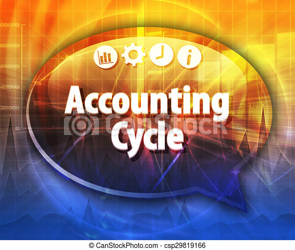 Accounting Cycle Business term speech bubble illustration - csp29819166