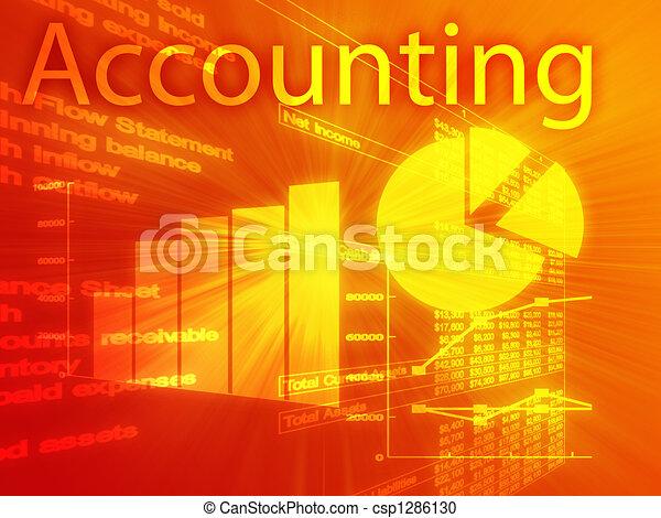 Accounting illustration - csp1286130