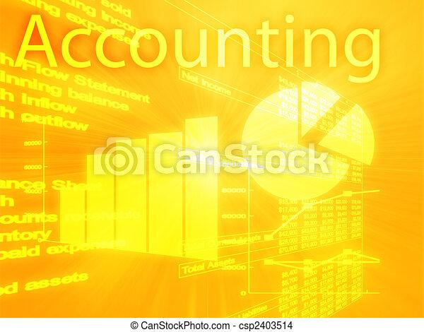 Accounting illustration - csp2403514