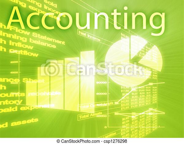 Accounting illustration - csp1276298
