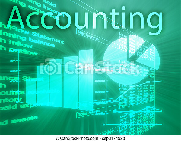 Accounting illustration - csp3174928