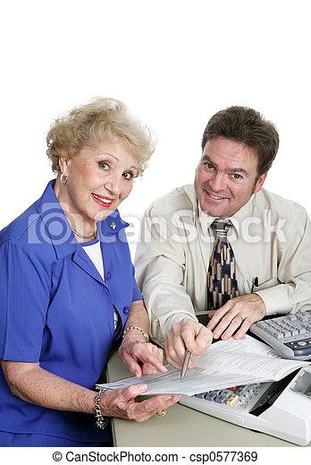 Accounting Series - Senior Lady - csp0577369