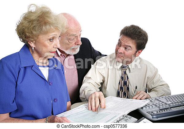Accounting Series - Shady Accountant - csp0577336