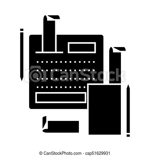 accounting system  icon, vector illustration, sign on isolated background - csp51629931