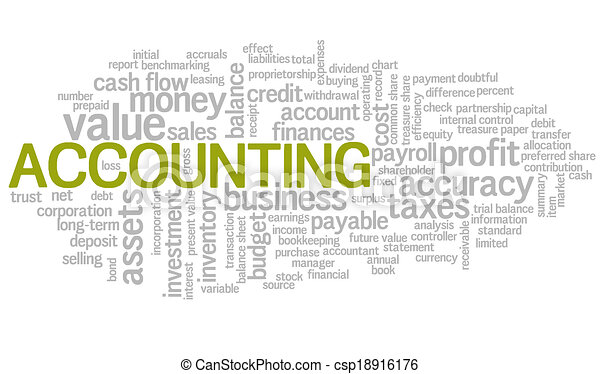 Accounting Word Cloud Green Bubble tags vector - csp18916176