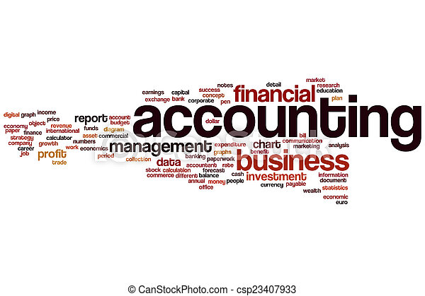 Accounting word cloud - csp23407933