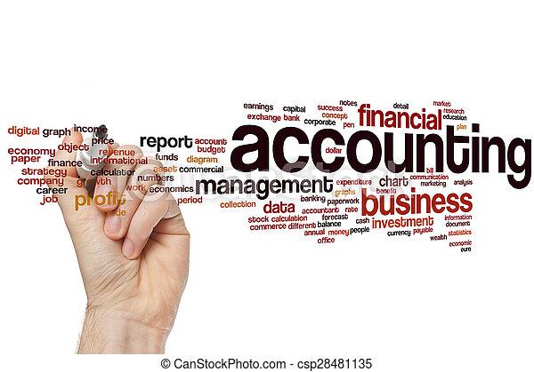 Accounting word cloud - csp28481135