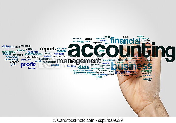 Accounting word cloud - csp34509639