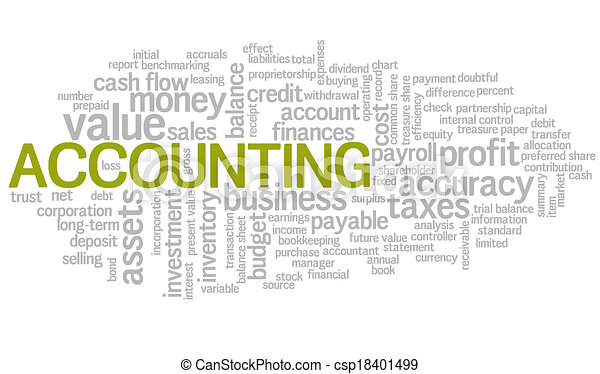 Accounting Word Cloud Word Bubble tags vector - csp18401499