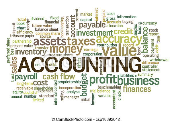 Accounting Word Cloud Word Bubble tags - csp18892042