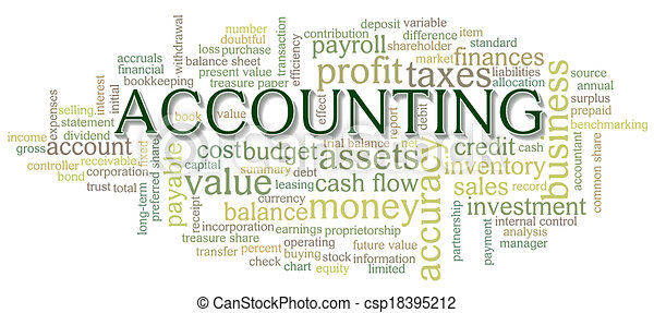 Accounting Word Cloud Word Bubble tags - csp18395212