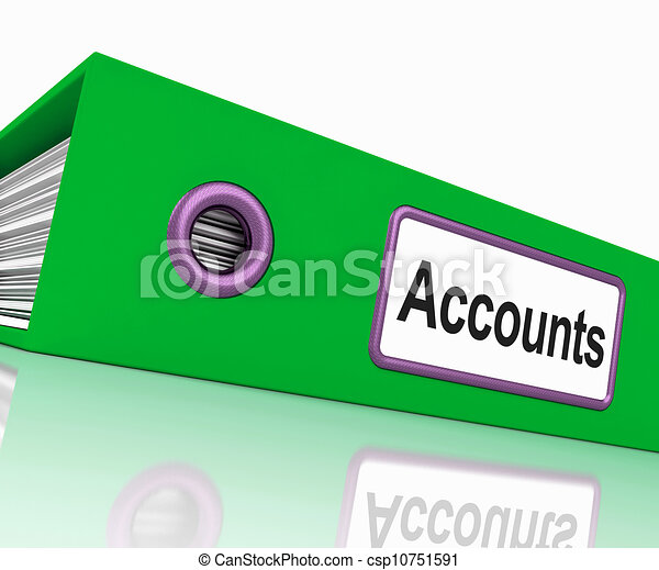 Accounts File Shows Accounting Profit And Expenses - csp10751591