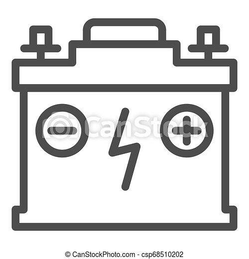 Accumulator line icon. Battery vector illustration isolated on white. Charge outline style design, designed for web and app. Eps 10. - csp68510202