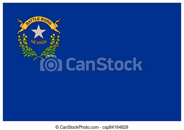 accurate correct nevada nv state flag vector - csp84164829