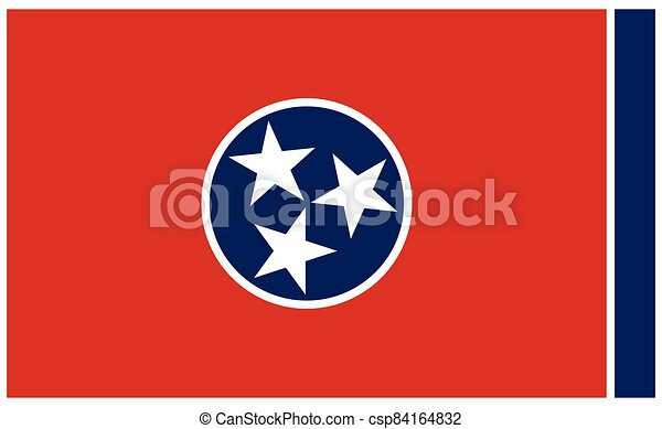 accurate correct tennessee tn state flag vector - csp84164832