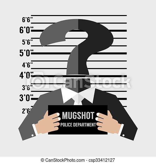 Una foto del sospechoso desconocido. - csp33412127