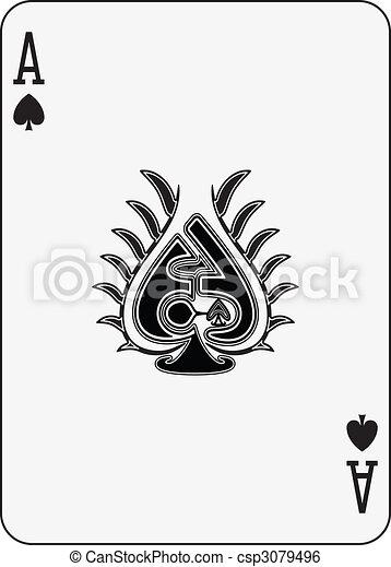 Ace of spade csp3079496