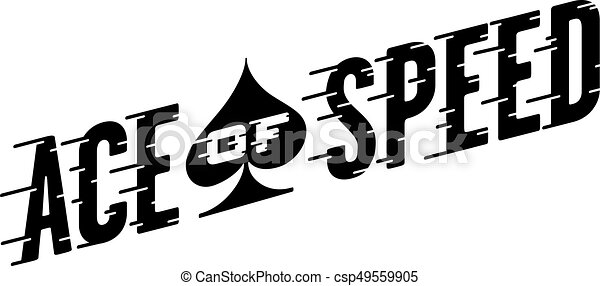 Ace of Speed Retro Vector Design - csp49559905