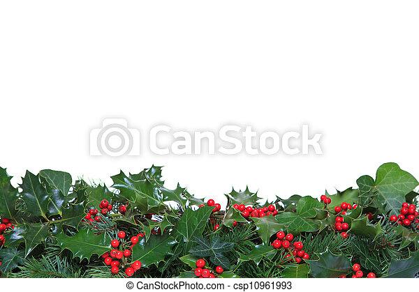 Holly y Ivy Footer - csp10961993
