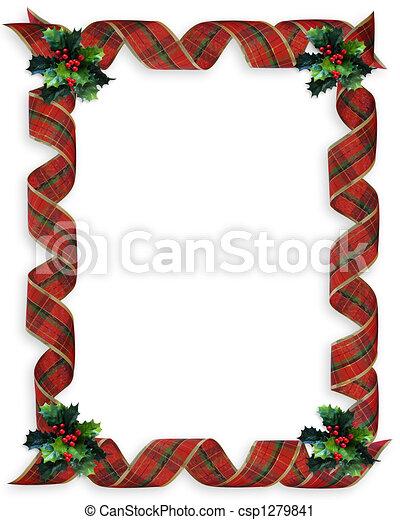 Acebo marco cintas navidad Rizado tartn composicin de la