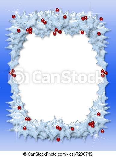 Un marco de Navidad - csp7206743